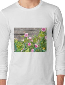 Pink Roses in the Garden 3 Long Sleeve T-Shirt