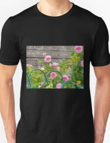 Pink Roses in the Garden 3 T-Shirt