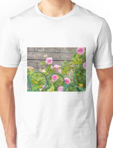 Pink Roses in the Garden 3 Unisex T-Shirt