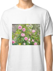 Pink Roses in the Garden 4 Classic T-Shirt