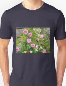 Pink Roses in the Garden 4 T-Shirt
