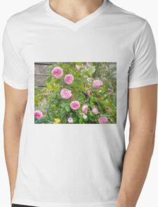 Pink Roses in the Garden 4 Mens V-Neck T-Shirt