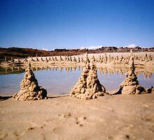 Dribble Sand Castles by mantahay