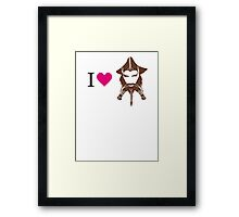 I love Nori Framed Print