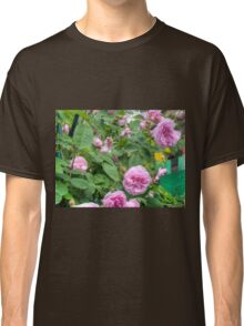 Pink Roses in the Garden 6 Classic T-Shirt