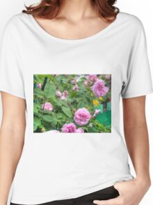 Pink Roses in the Garden 6 Women's Relaxed Fit T-Shirt