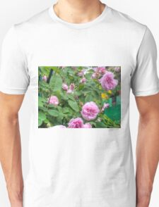 Pink Roses in the Garden 6 Unisex T-Shirt