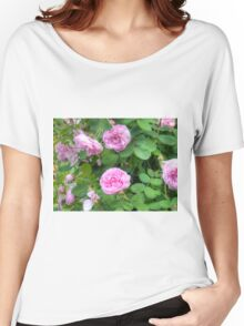 Pink Roses in the Garden 7 Women's Relaxed Fit T-Shirt