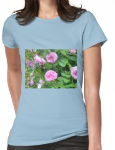 Pink Roses in the Garden 7 Womens Fitted T-Shirt