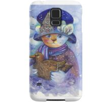 winter cat Samsung Galaxy Case/Skin