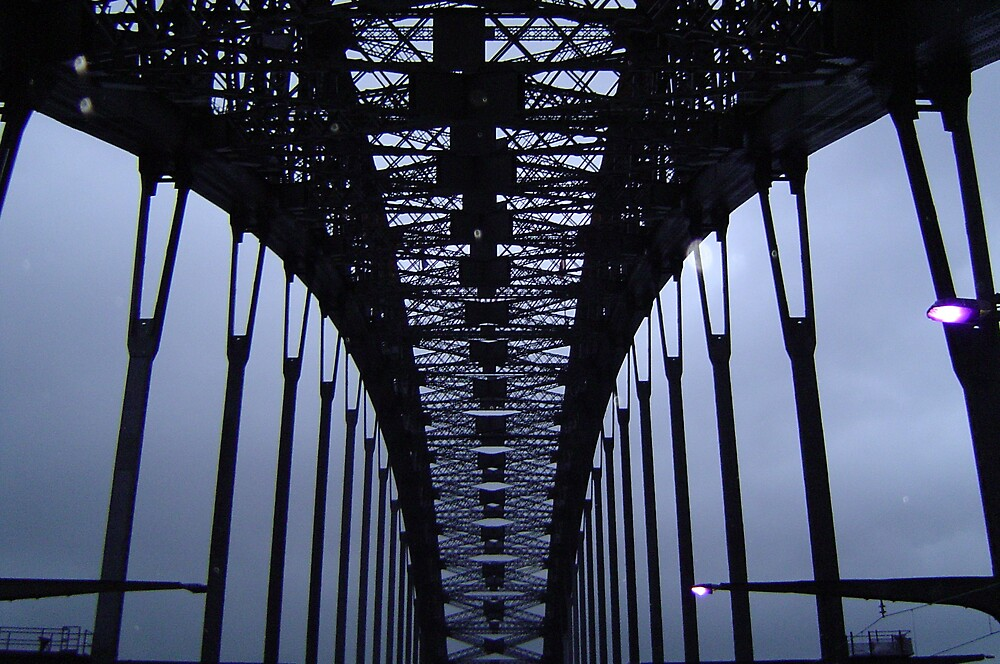 Inside Harbour Bridge 1 by Barry Ross
