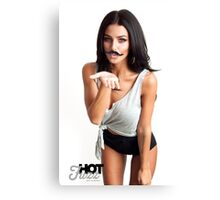 HOT FUZZ BABES IN MUSTACHE MOVEMBER KISS Canvas Print