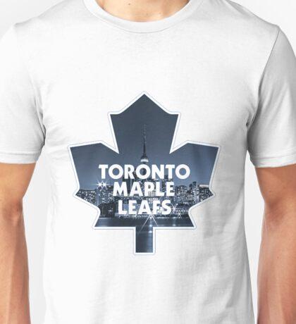 Toronto Maple Leafs Logo with Skyline 2 Unisex T-Shirt