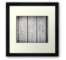 White wood plank Framed Print