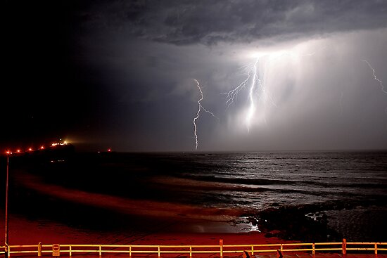 Nobby's Beach Storm by Mark Snelson