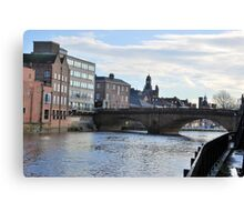 By the River Ouse. Canvas Print