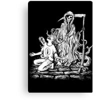 Grim Reaper Taking Soul Canvas Print