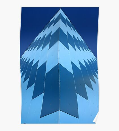 Symmetry in Blue Poster