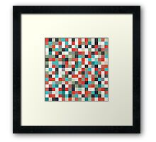 Pixel Art Pattern Framed Print