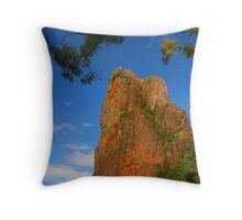 Belougery Spire in the Warrumbungles Throw Pillow