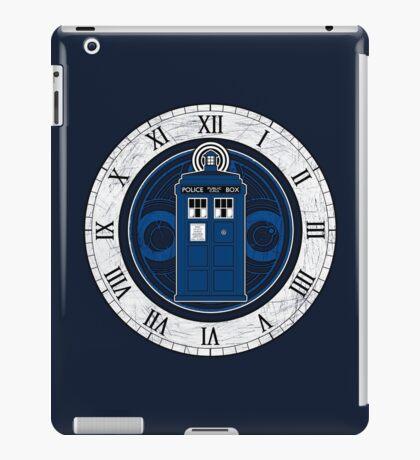 TARDIS and Clock - Doctor Who iPad Case/Skin