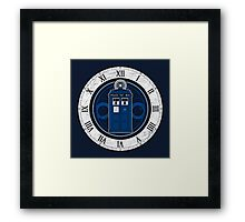 TARDIS and Clock - Doctor Who Framed Print