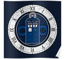 TARDIS and Clock - Doctor Who Poster