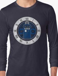 TARDIS and Clock - Doctor Who Long Sleeve T-Shirt