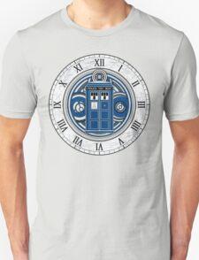 TARDIS and Clock - Doctor Who T-Shirt