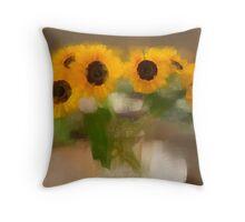 Sunflowers #3 Throw Pillow