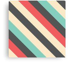 Retro Striped Pattern Canvas Print