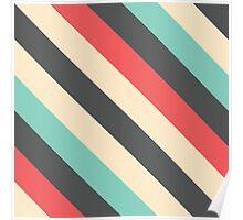 Retro Striped Pattern Poster