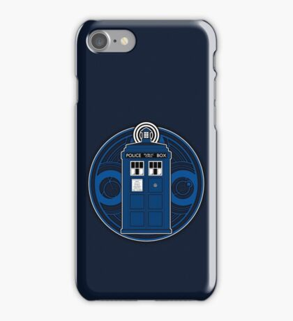TARDIS and Timelord Seal - Doctor Who iPhone Case/Skin