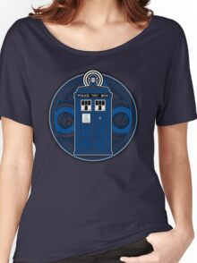 TARDIS and Timelord Seal - Doctor Who Women's Relaxed Fit T-Shirt