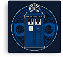 TARDIS and Timelord Seal - Doctor Who Canvas Print