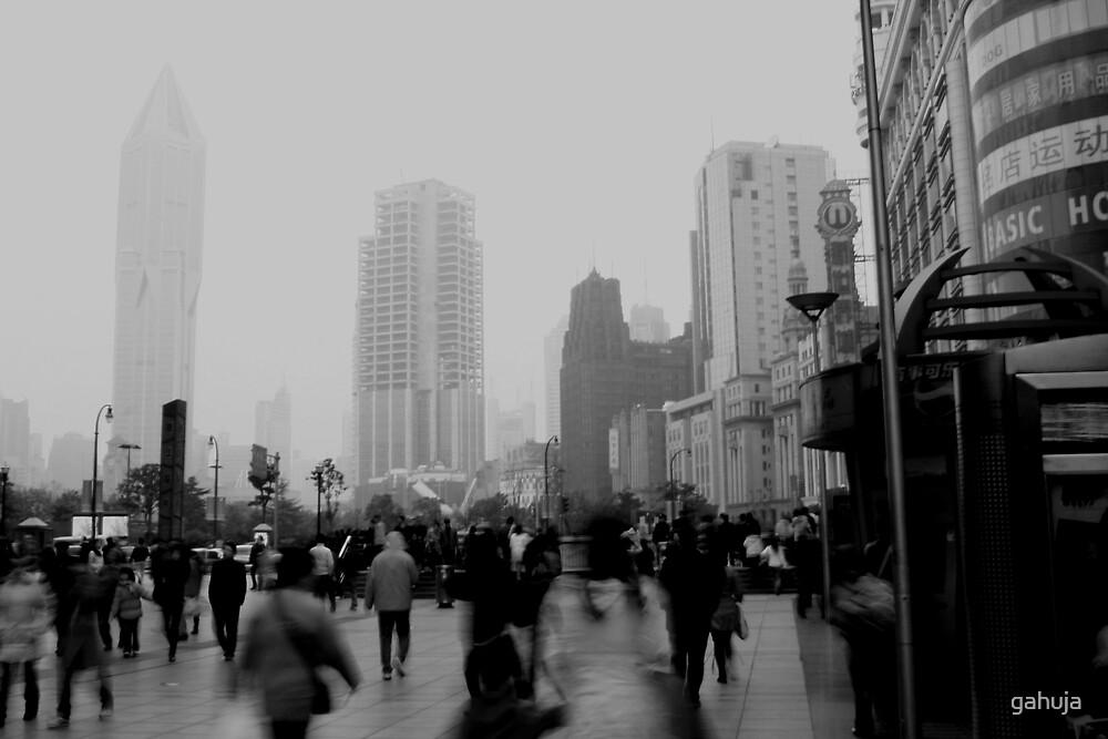 Busy Nanjing Road by gahuja