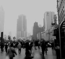 Busy Nanjing Road by gahuja
