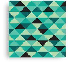 Green Pixel Art Pattern Canvas Print