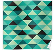 Green Pixel Art Pattern Poster