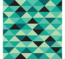 Green Pixel Art Pattern Photographic Print