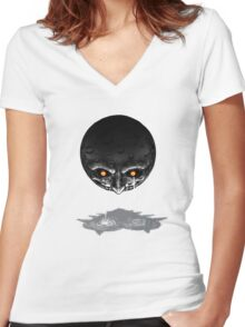 Moon's tears Women's Fitted V-Neck T-Shirt