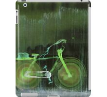 WDV - 391 - Self Aware Bicycle Out for an Afternoon's Package Delivery in the Rain iPad Case/Skin
