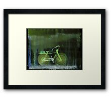 WDV - 391 - Self Aware Bicycle Out for an Afternoon's Package Delivery in the Rain Framed Print