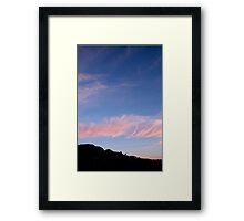 Pink and Blue #2 Framed Print