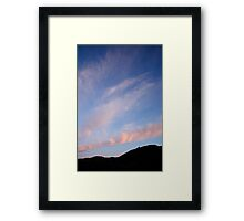 Pink and Blue #3 Framed Print