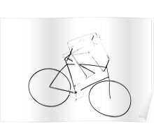 stilized bicycle Poster