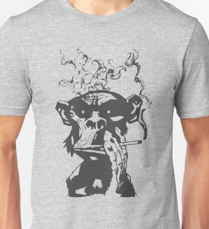 smoking monkeys Unisex T-Shirt
