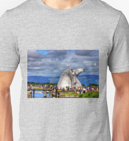 Crowds at the Kelpies Unisex T-Shirt