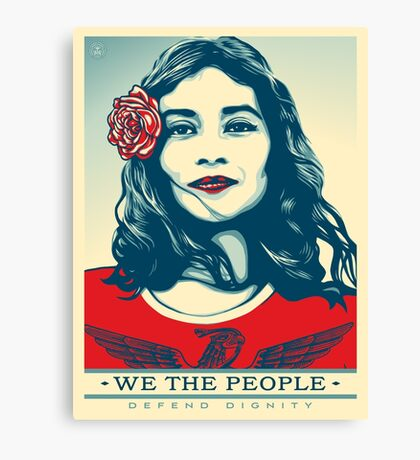 We the people defend dignity Canvas Print