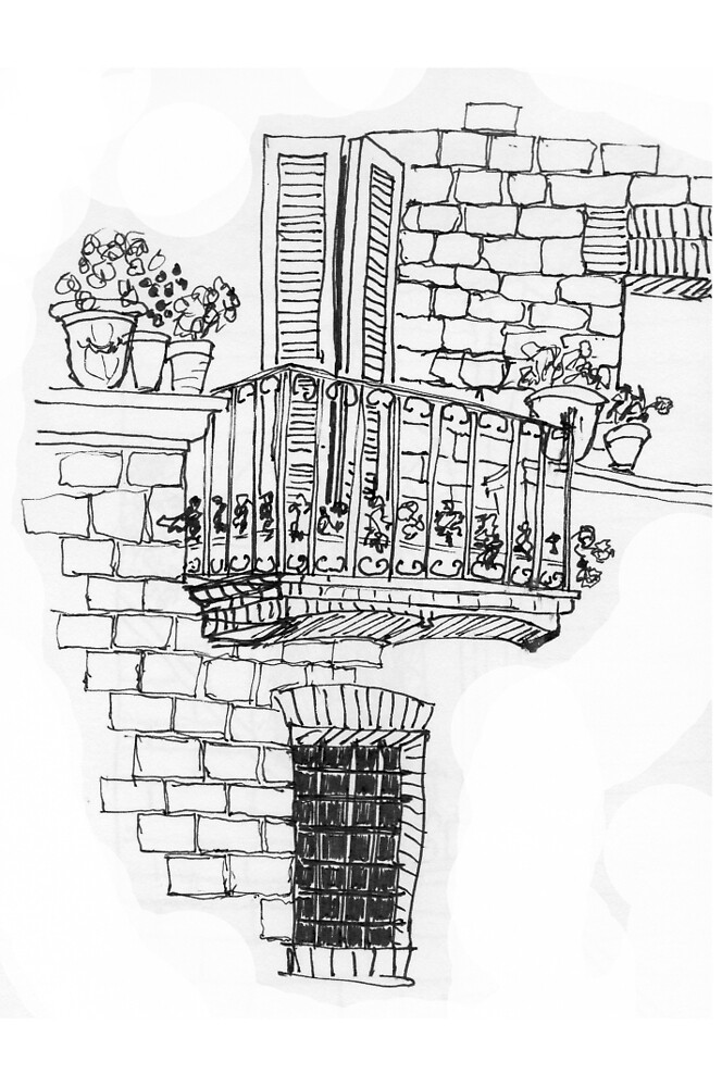 Italy- A window below the balcony in Assisi by James Lewis Hamilton